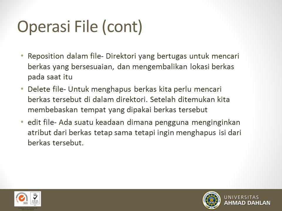 Operasi File (cont)