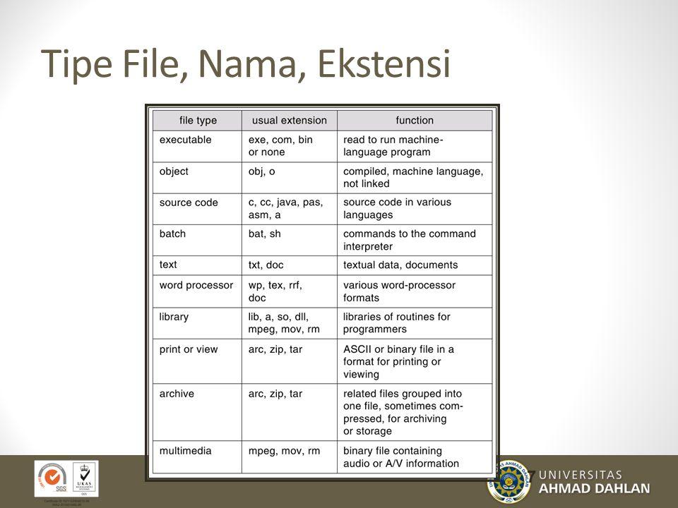 Tipe File, Nama, Ekstensi