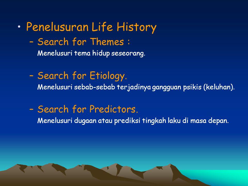 Penelusuran Life History