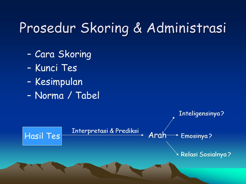 Prosedur Skoring & Administrasi