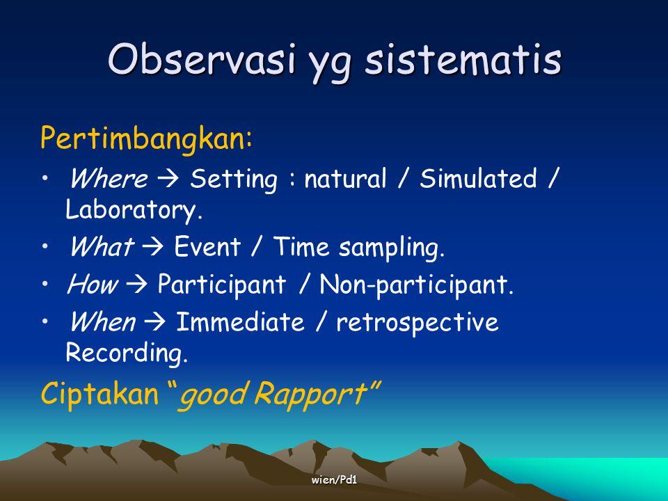 Observasi yg sistematis