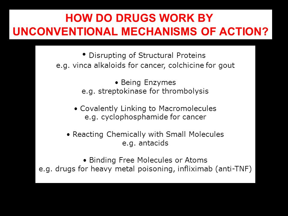 UNCONVENTIONAL MECHANISMS OF ACTION