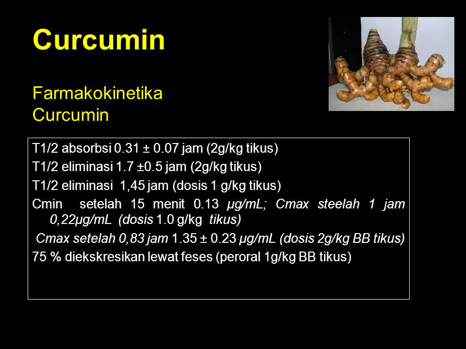 Curcumin Farmakokinetika Curcumin