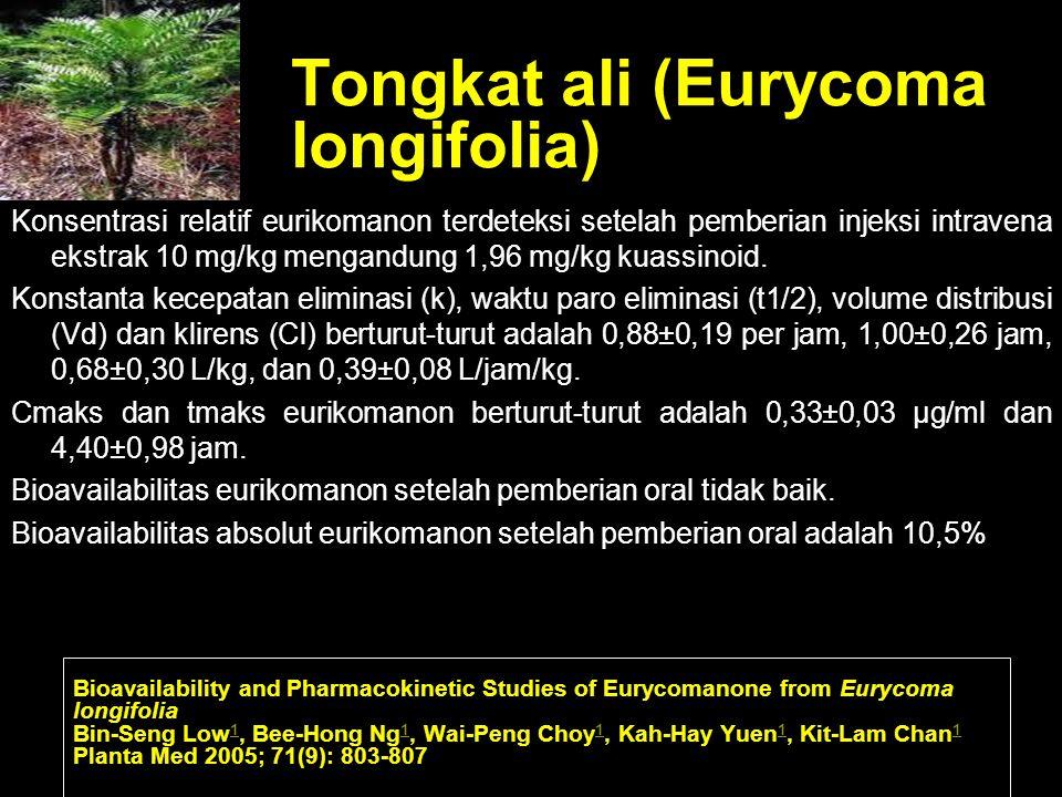 Tongkat ali (Eurycoma longifolia)