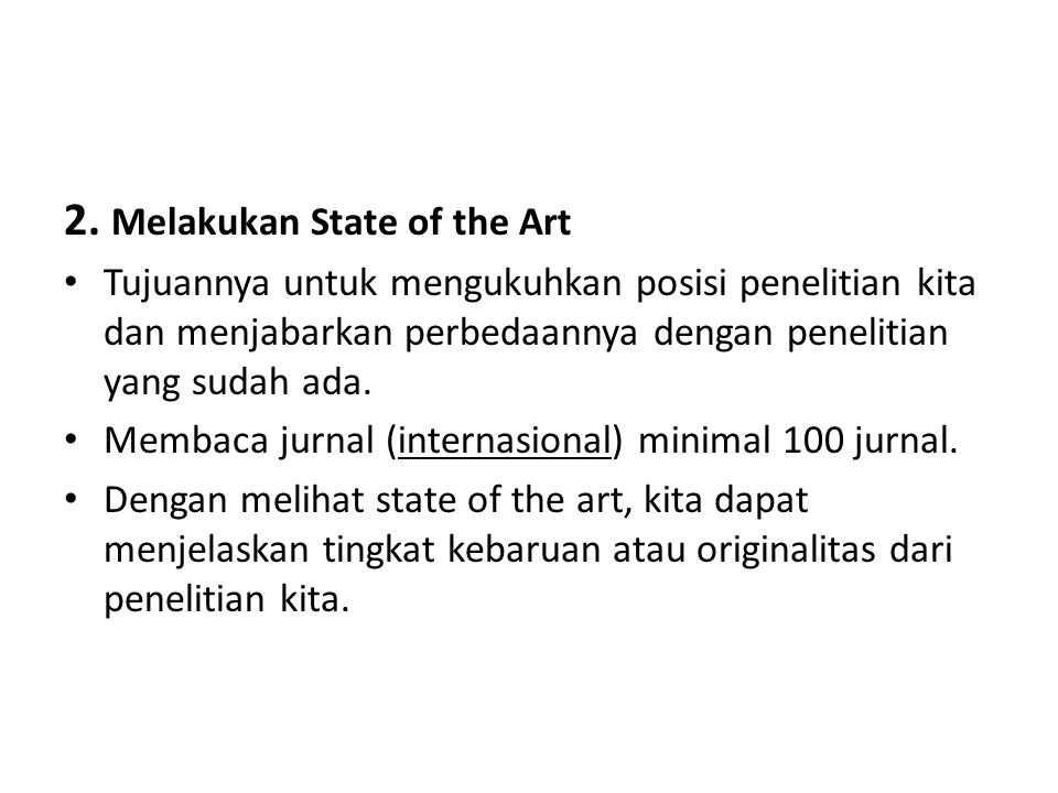 2. Melakukan State of the Art
