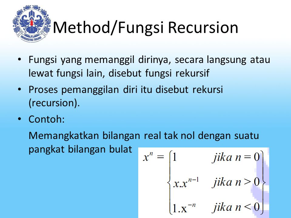 Method/Fungsi Recursion