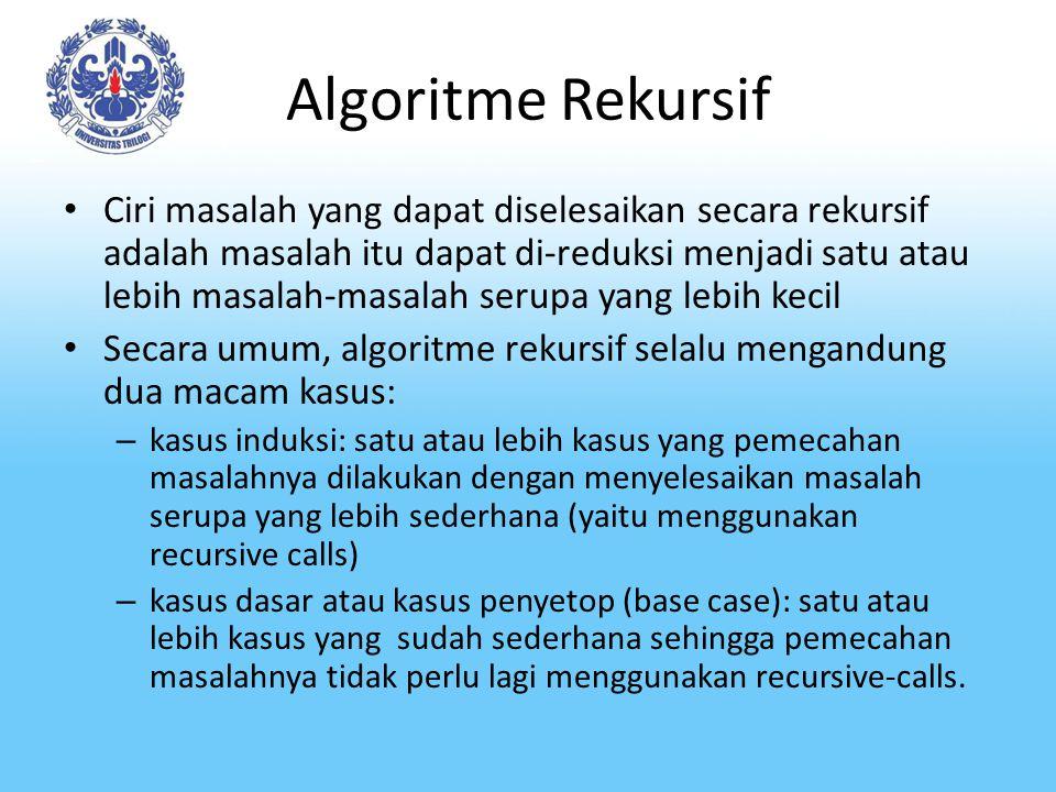 Algoritme Rekursif