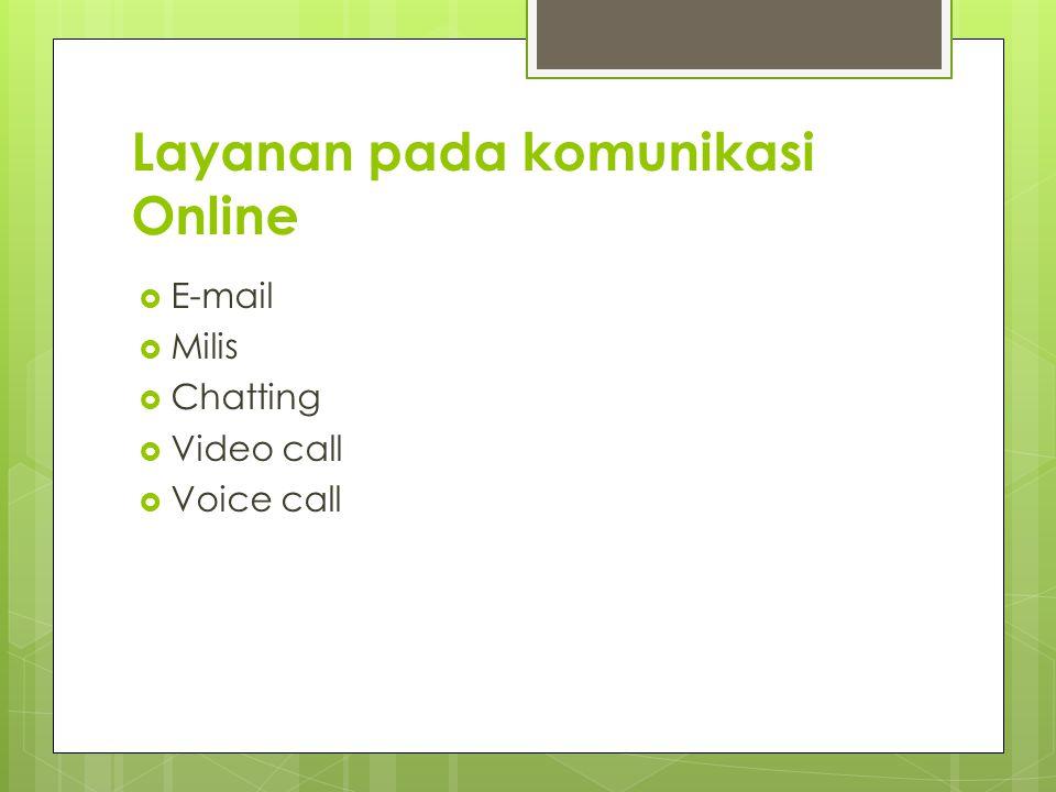 Layanan pada komunikasi Online
