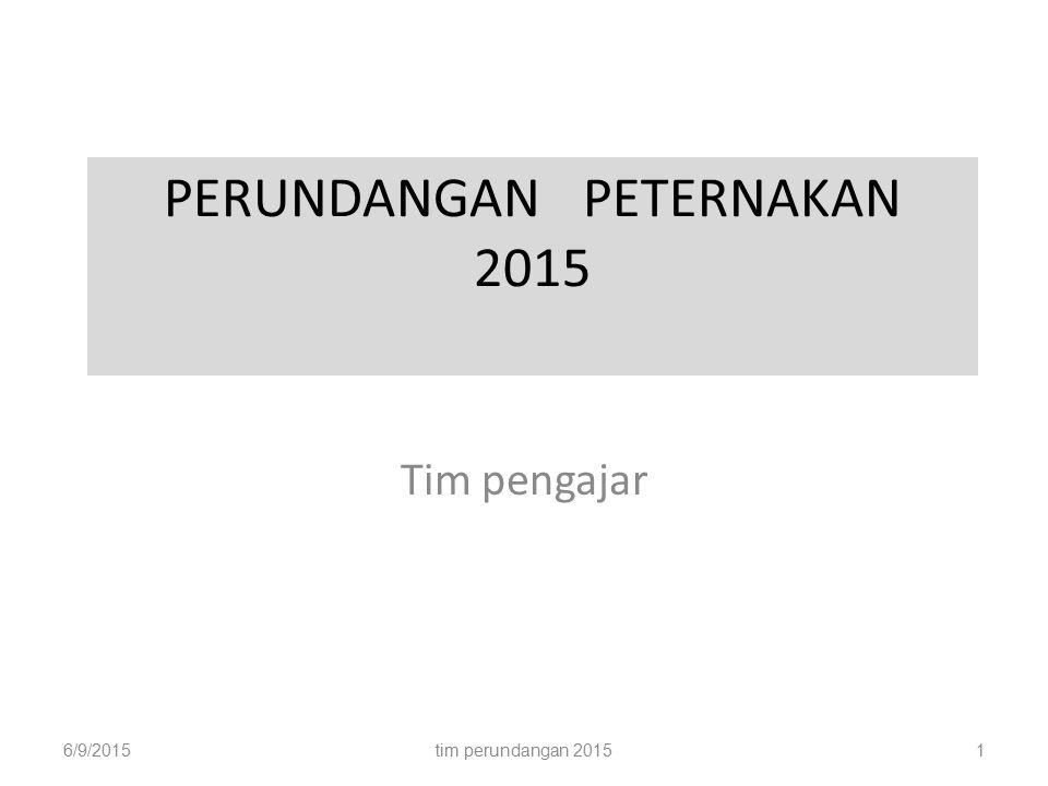 PERUNDANGAN PETERNAKAN 2015
