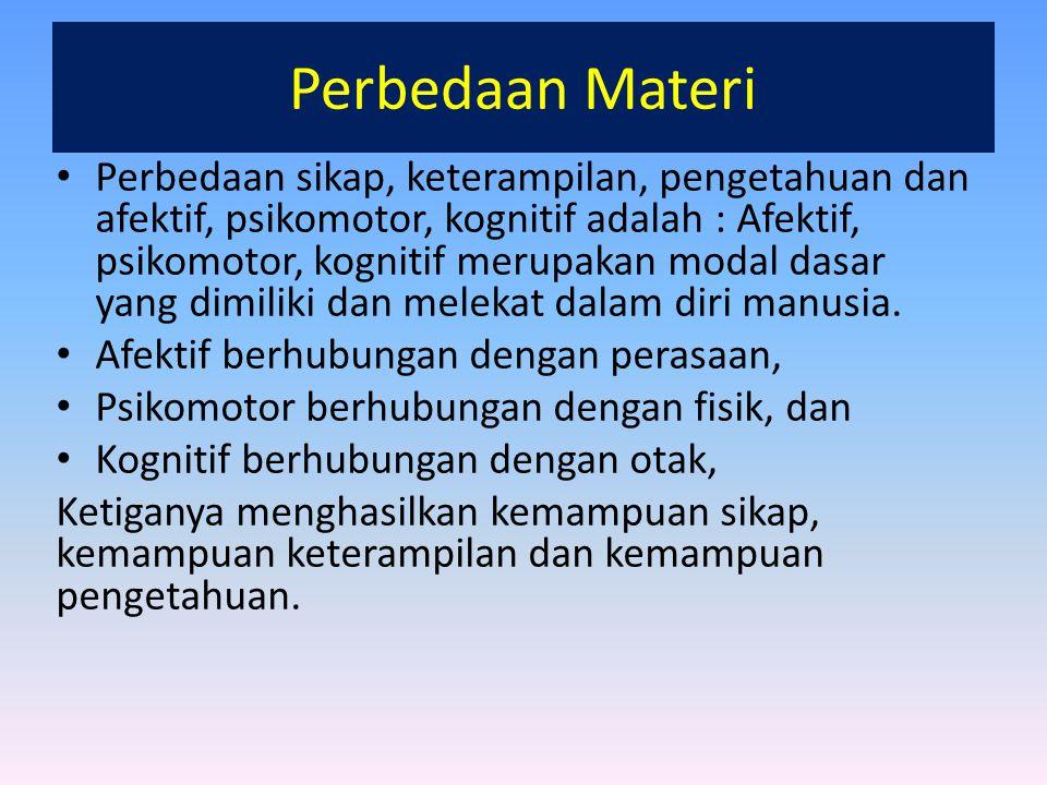 Perbedaan Materi