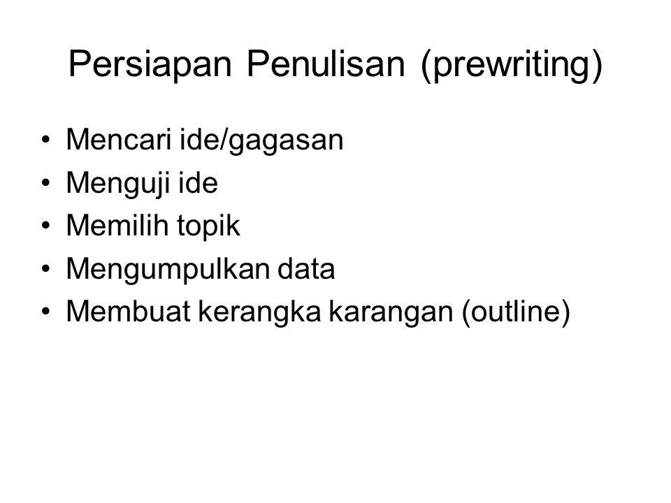 Persiapan Penulisan (prewriting)