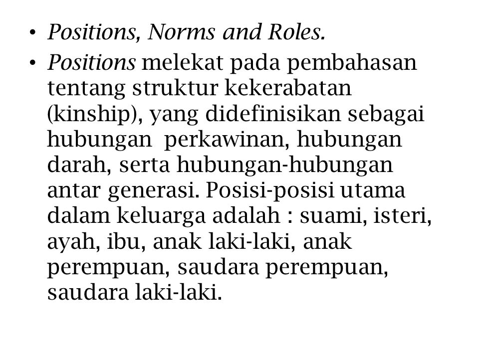 Positions, Norms and Roles.