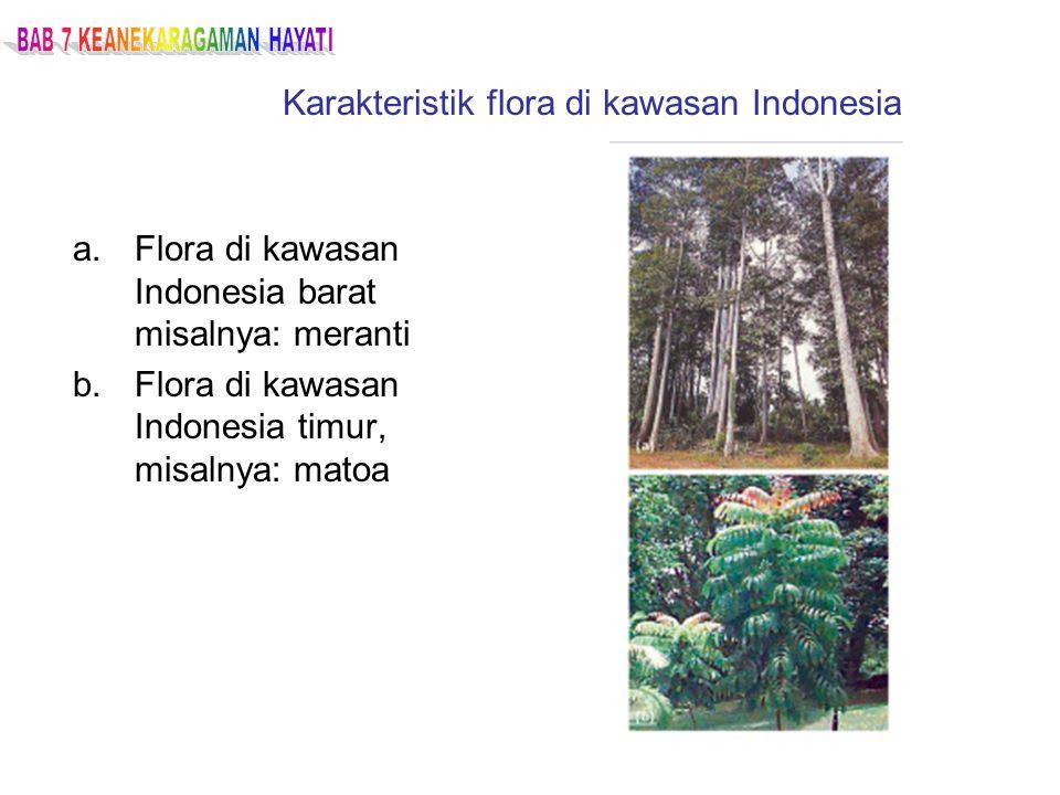 Karakteristik flora di kawasan Indonesia