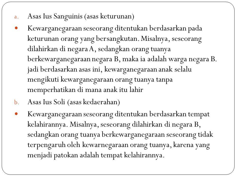 Asas Ius Sanguinis (asas keturunan)