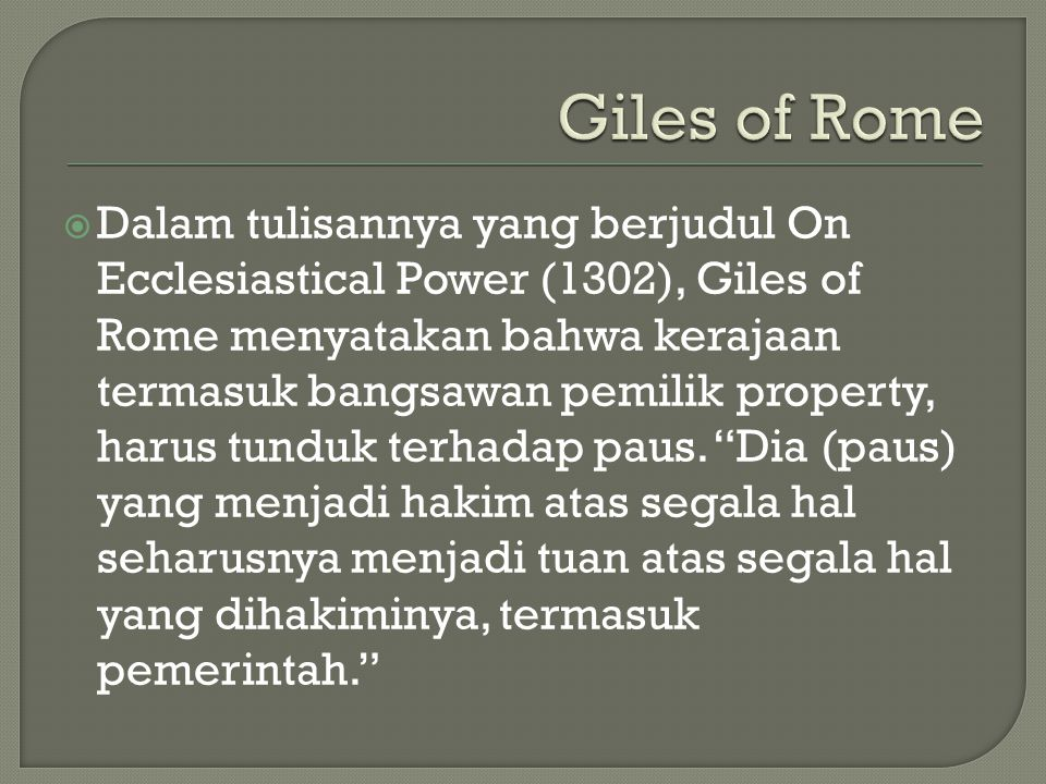 Giles of Rome