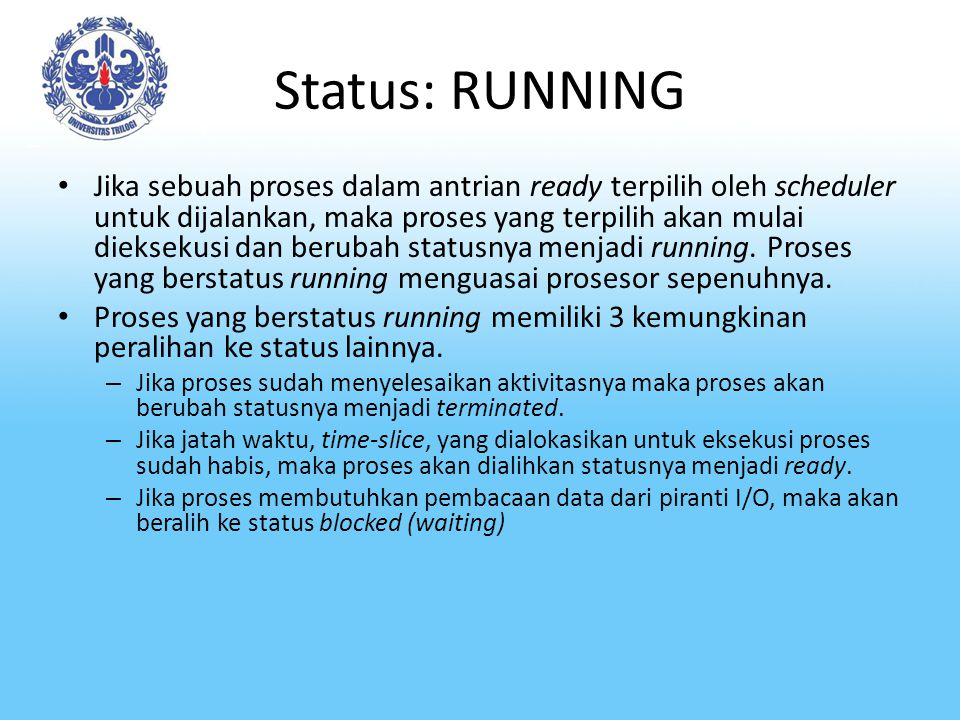 Status: RUNNING