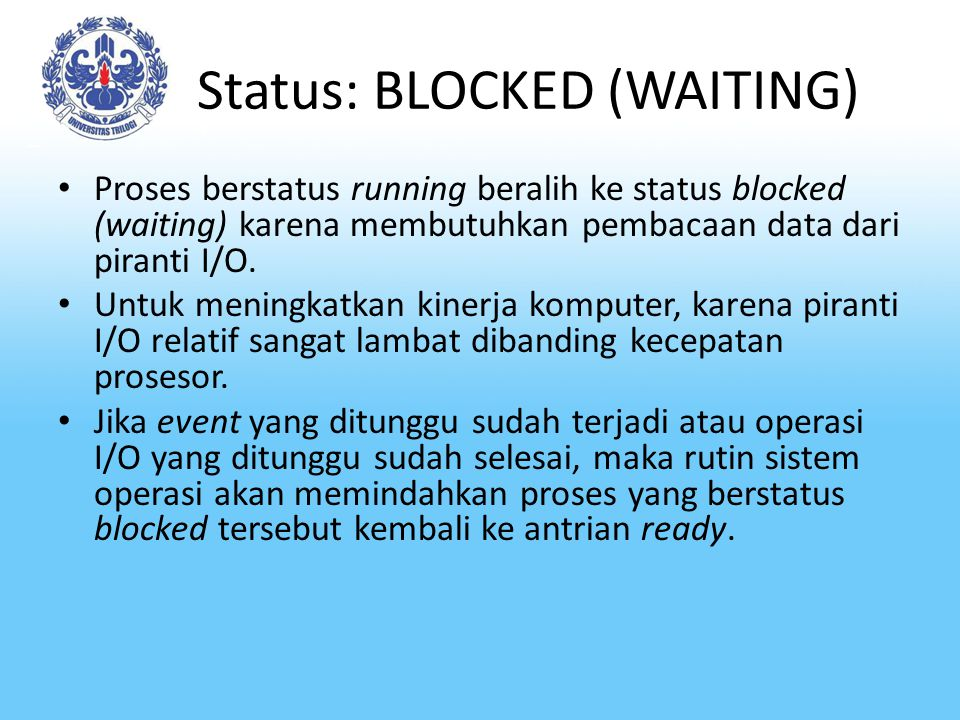 Status: BLOCKED (WAITING)