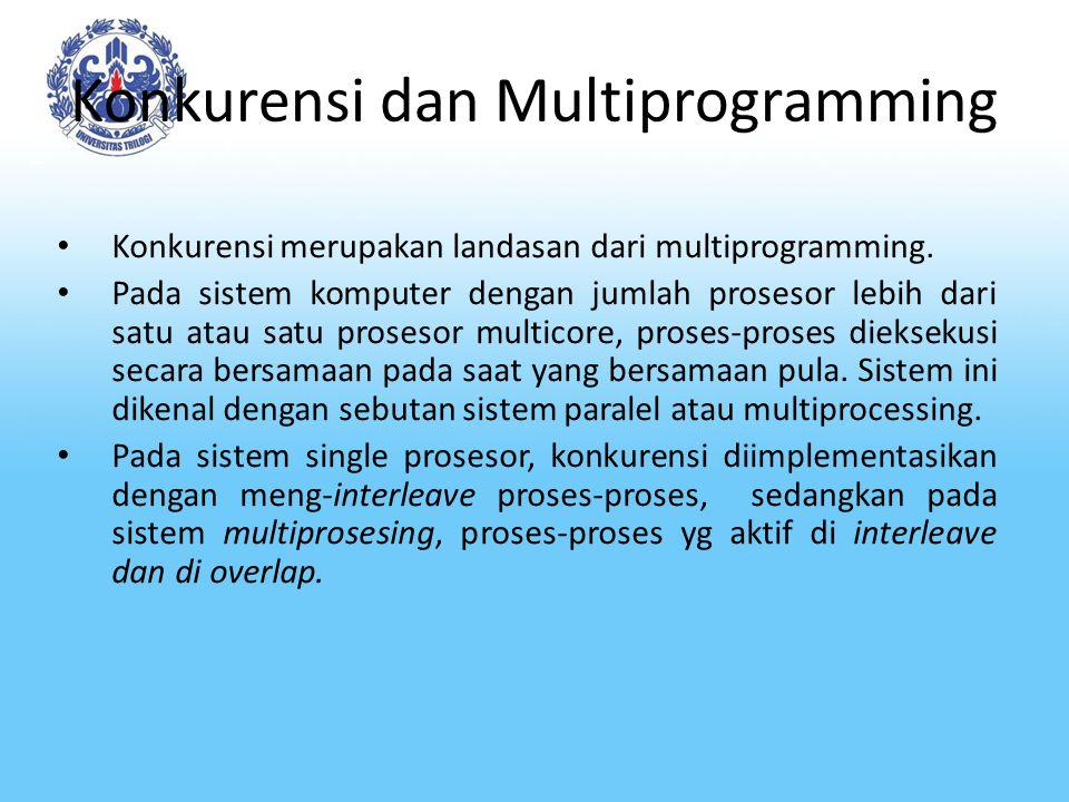 Konkurensi dan Multiprogramming