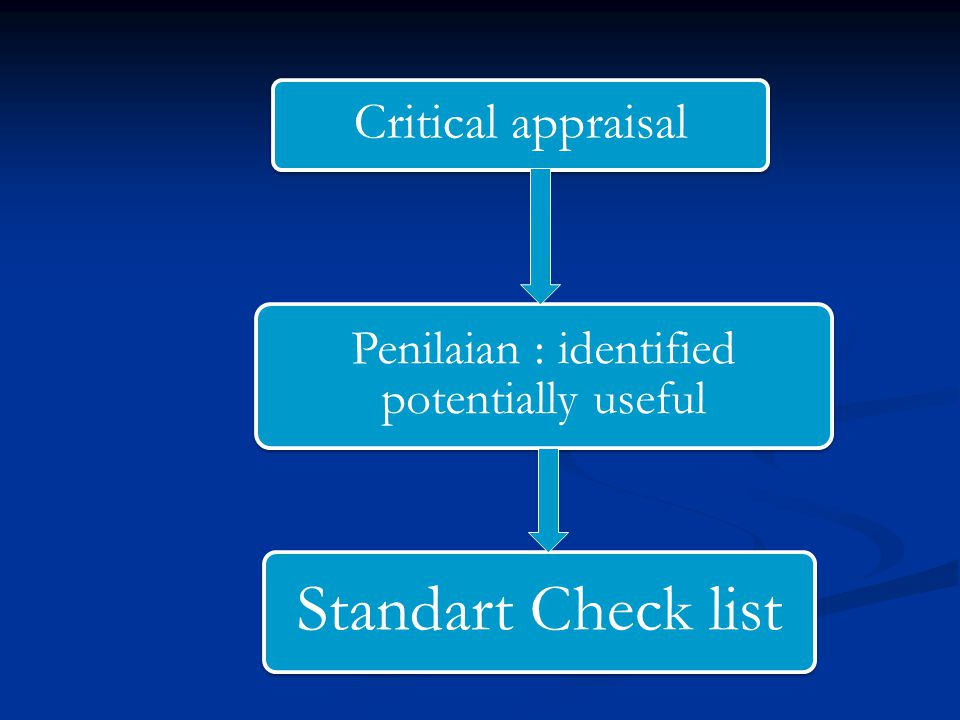 Penilaian : identified potentially useful