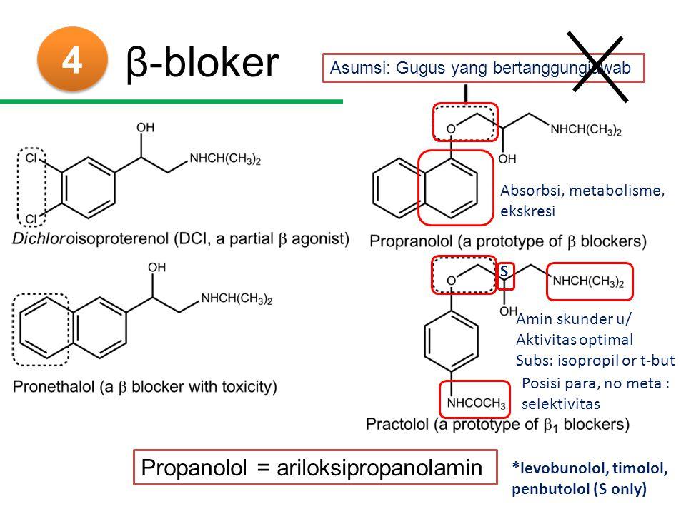 β-bloker 4 Propanolol = ariloksipropanolamin