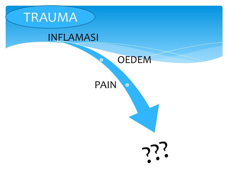 TRAUMA INFLAMASI OEDEM PAIN
