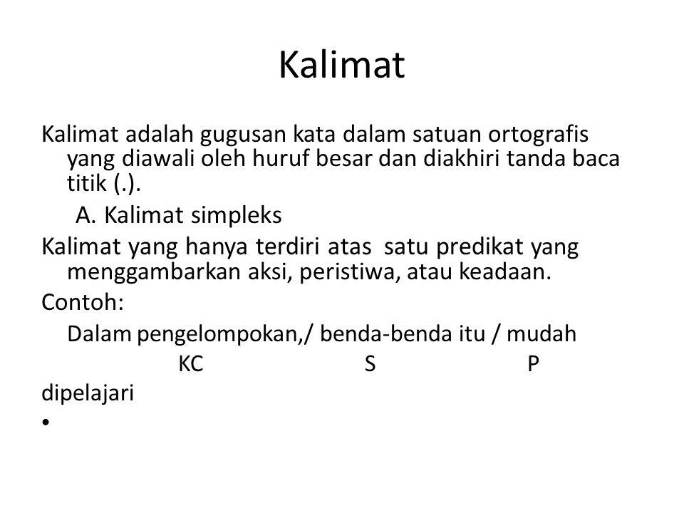 Kalimat A. Kalimat simpleks