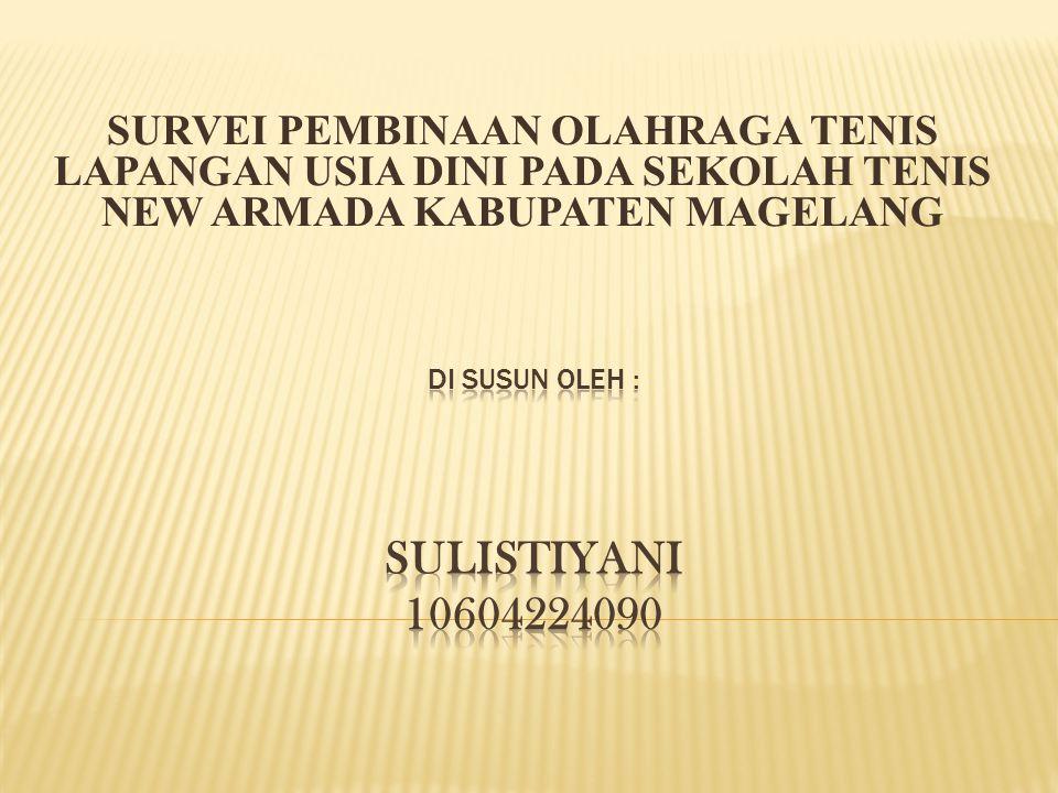 Di susun OLEH : SULISTIYANI 10604224090