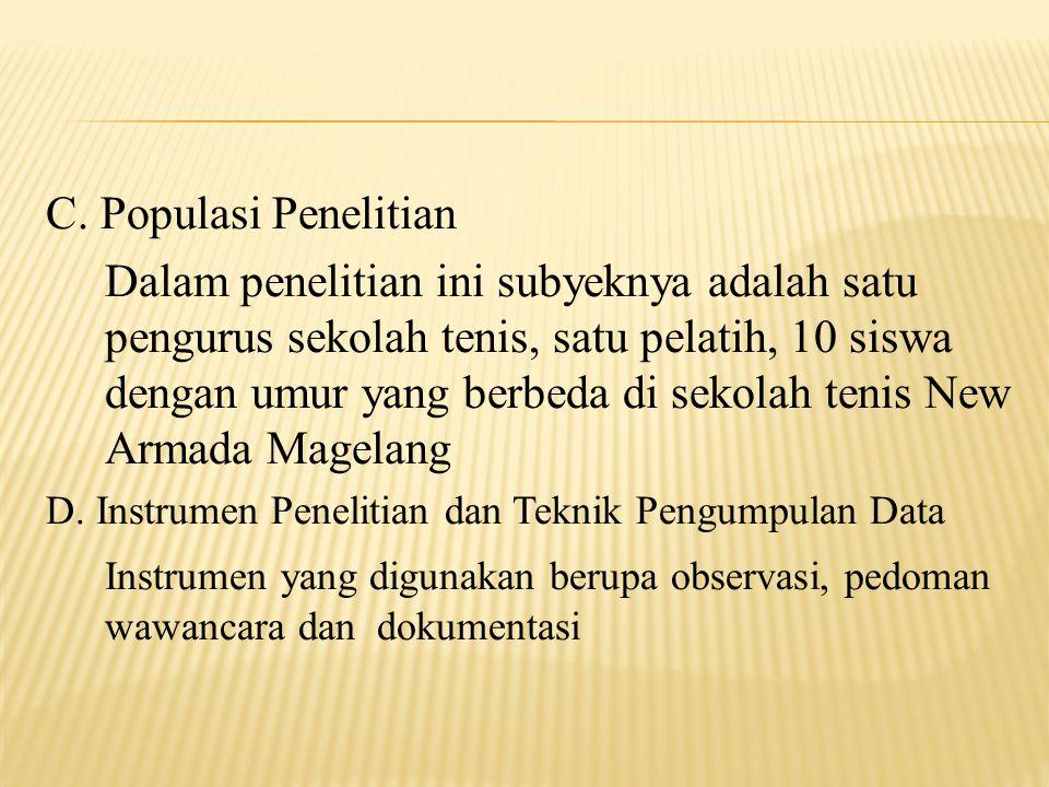 C. Populasi Penelitian