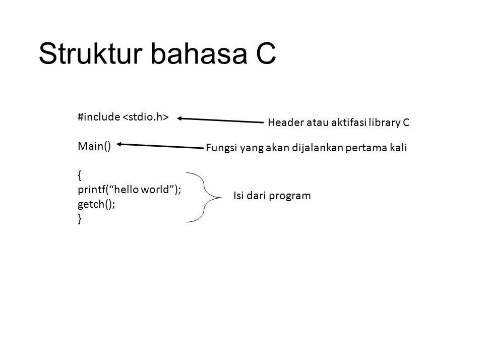 Struktur bahasa C #include <stdio.h>
