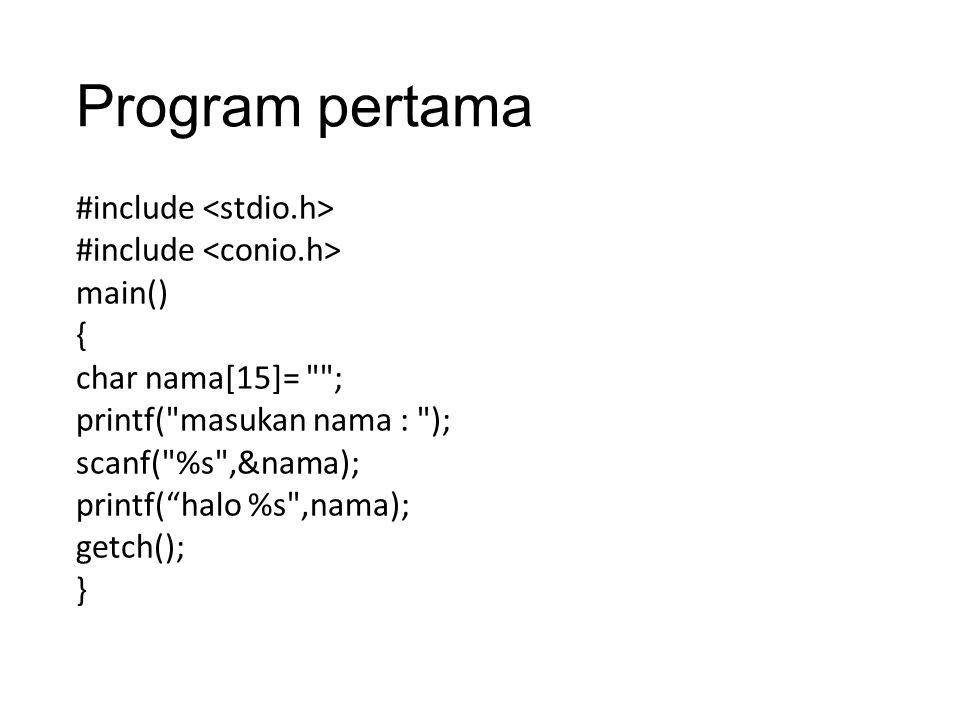 Program pertama