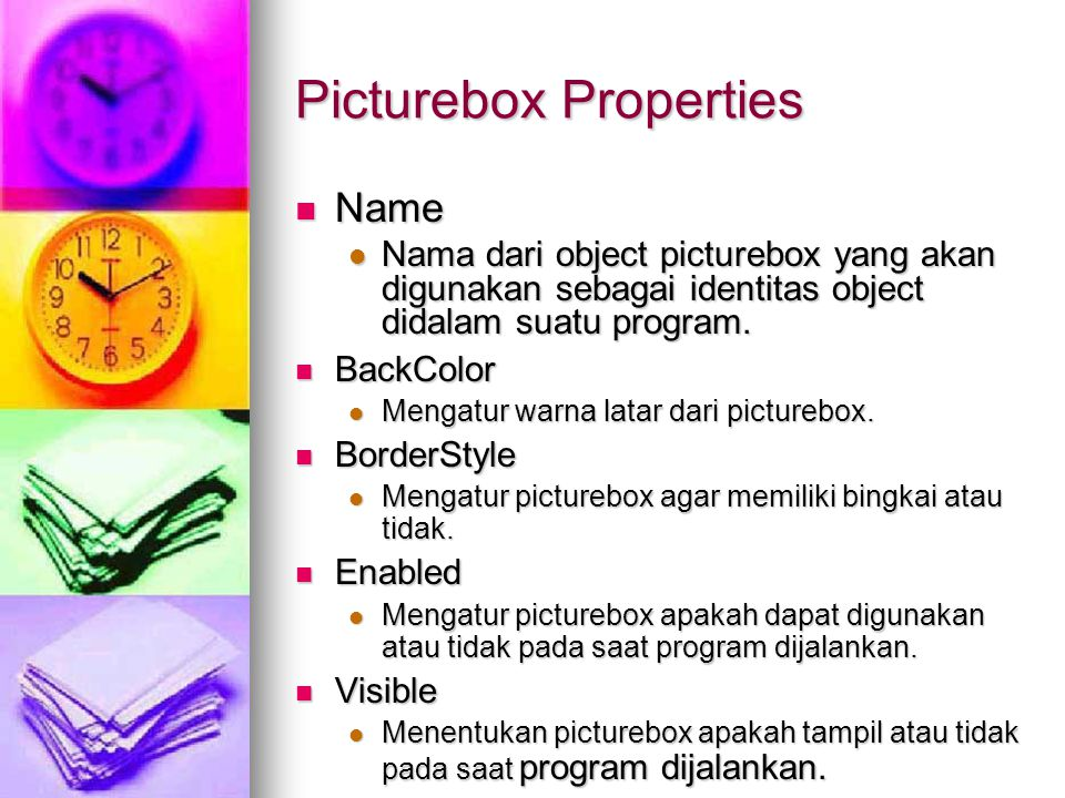 Picturebox Properties