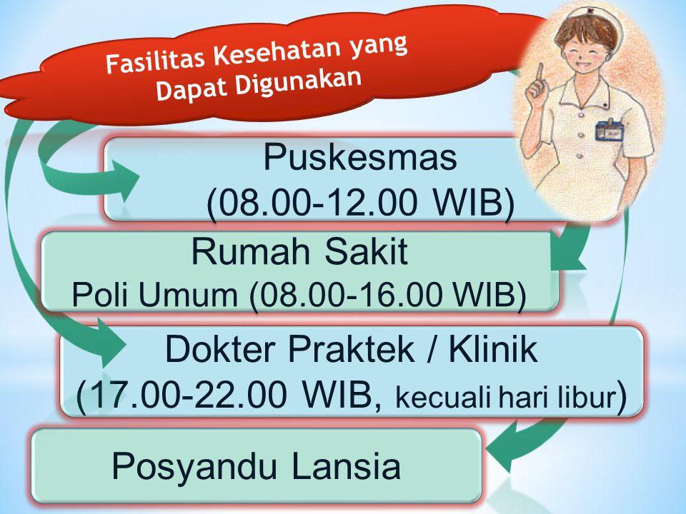Fasilitas Kesehatan yang Dapat Digunakan