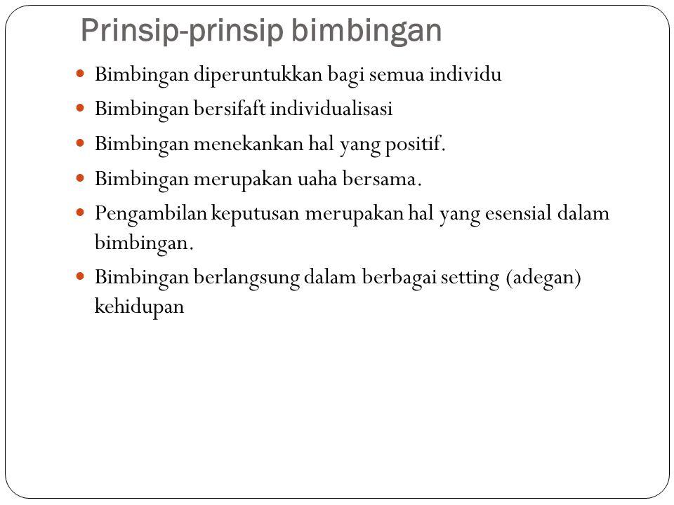 Prinsip-prinsip bimbingan