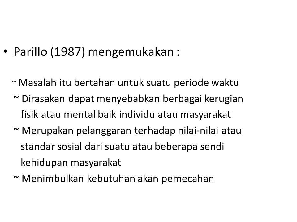 Parillo (1987) mengemukakan :