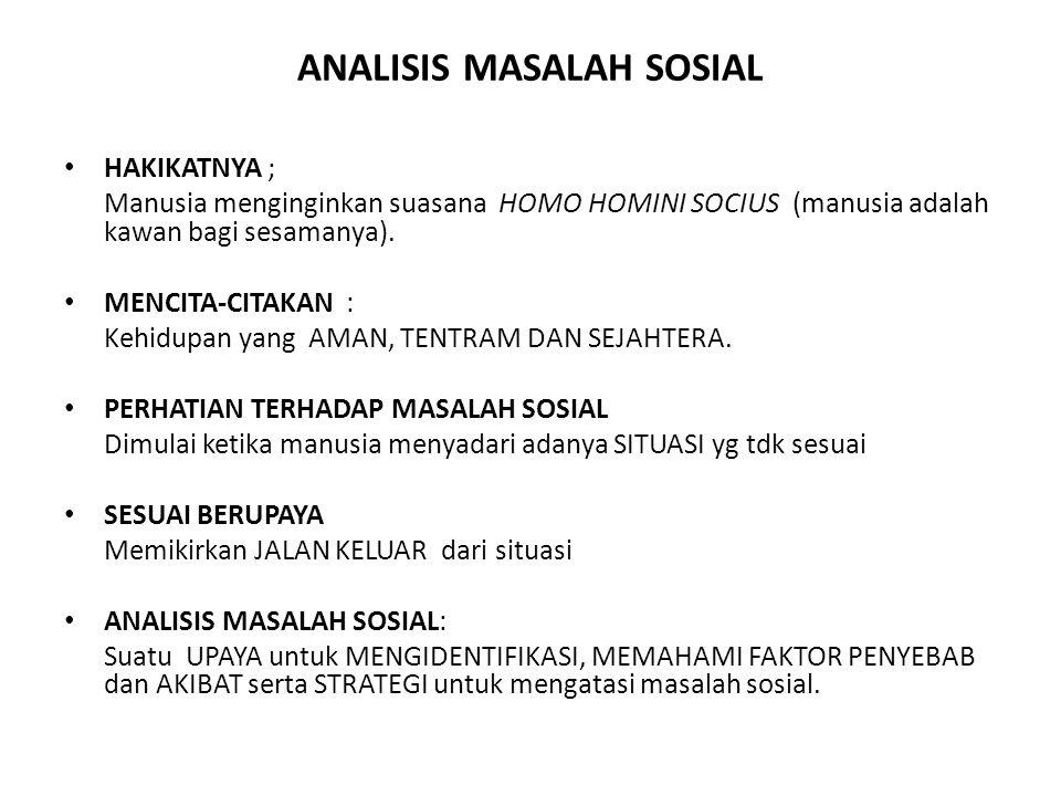 ANALISIS MASALAH SOSIAL