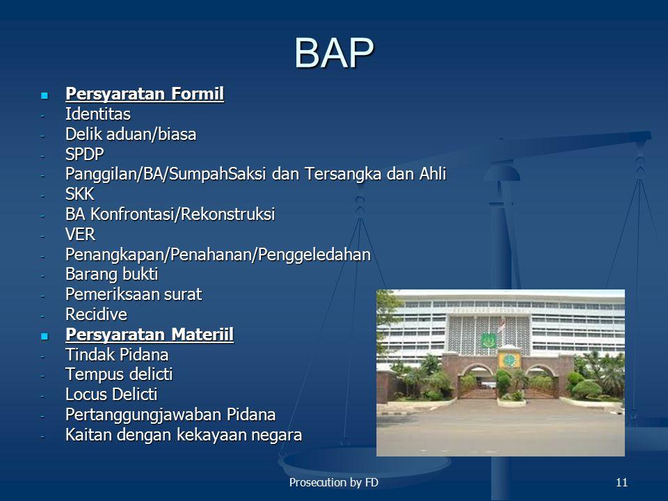 BAP Persyaratan Formil Identitas Delik aduan/biasa SPDP