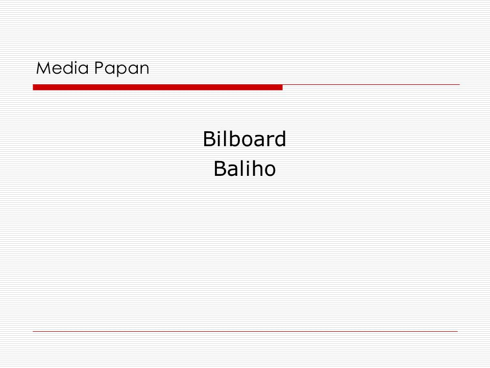 Media Papan Bilboard Baliho