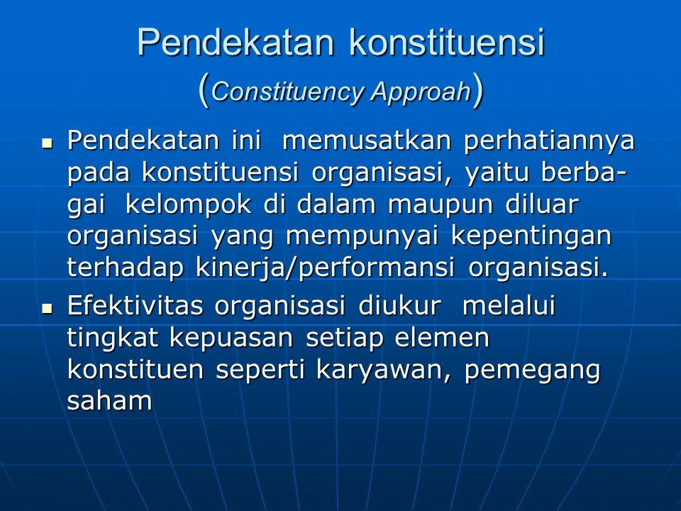 Pendekatan konstituensi (Constituency Approah)