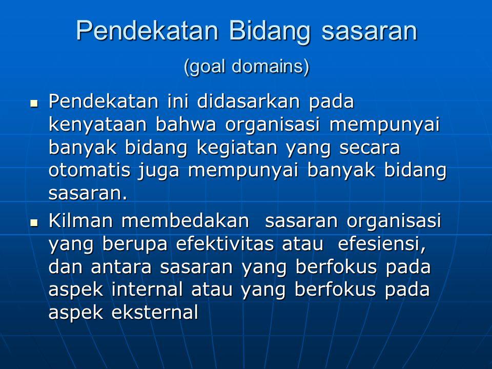 Pendekatan Bidang sasaran (goal domains)