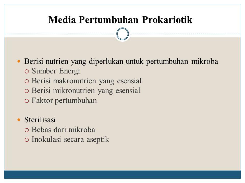 Media Pertumbuhan Prokariotik