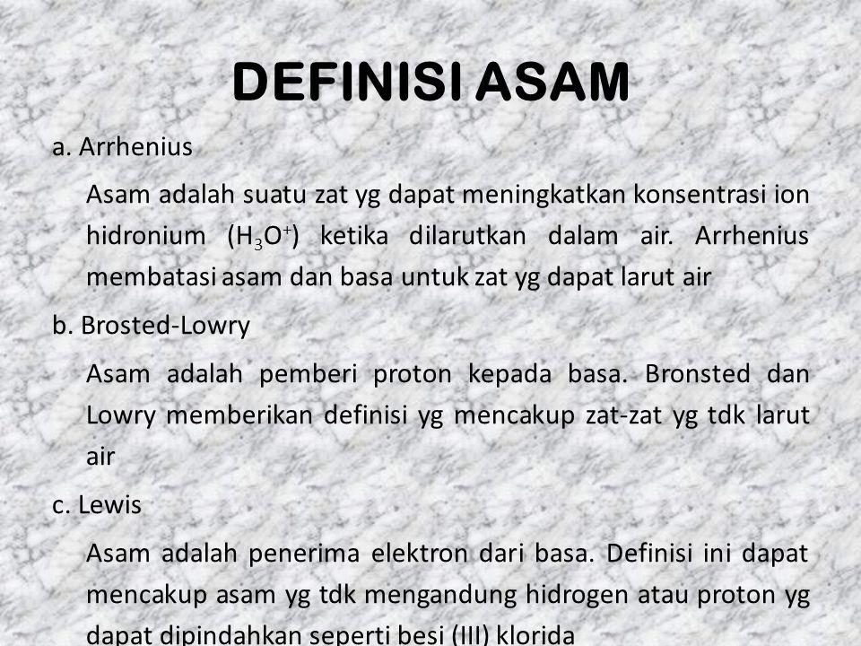 DEFINISI ASAM