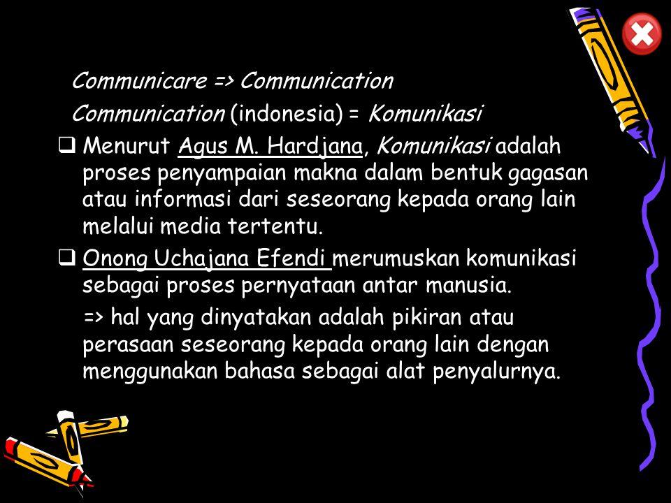 Communicare => Communication
