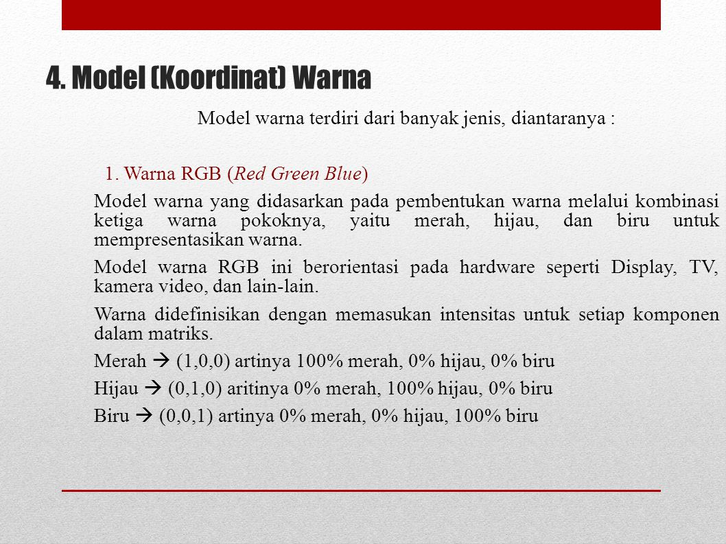 4. Model (Koordinat) Warna