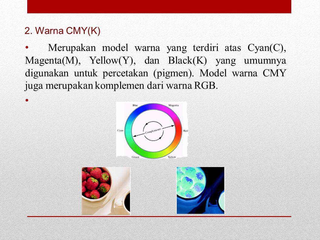 2. Warna CMY(K)