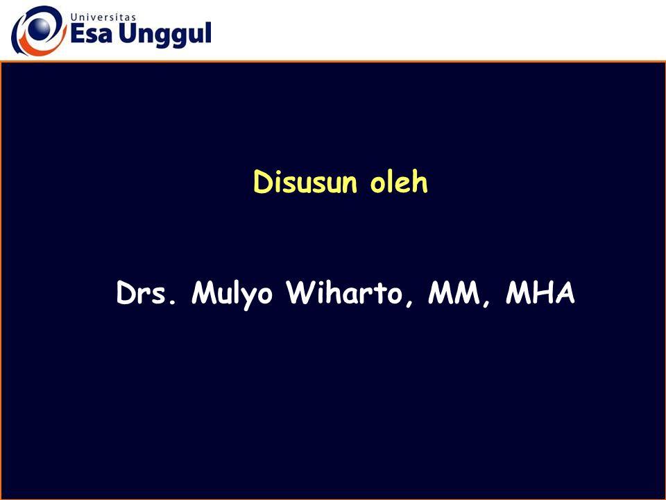 Drs. Mulyo Wiharto, MM, MHA