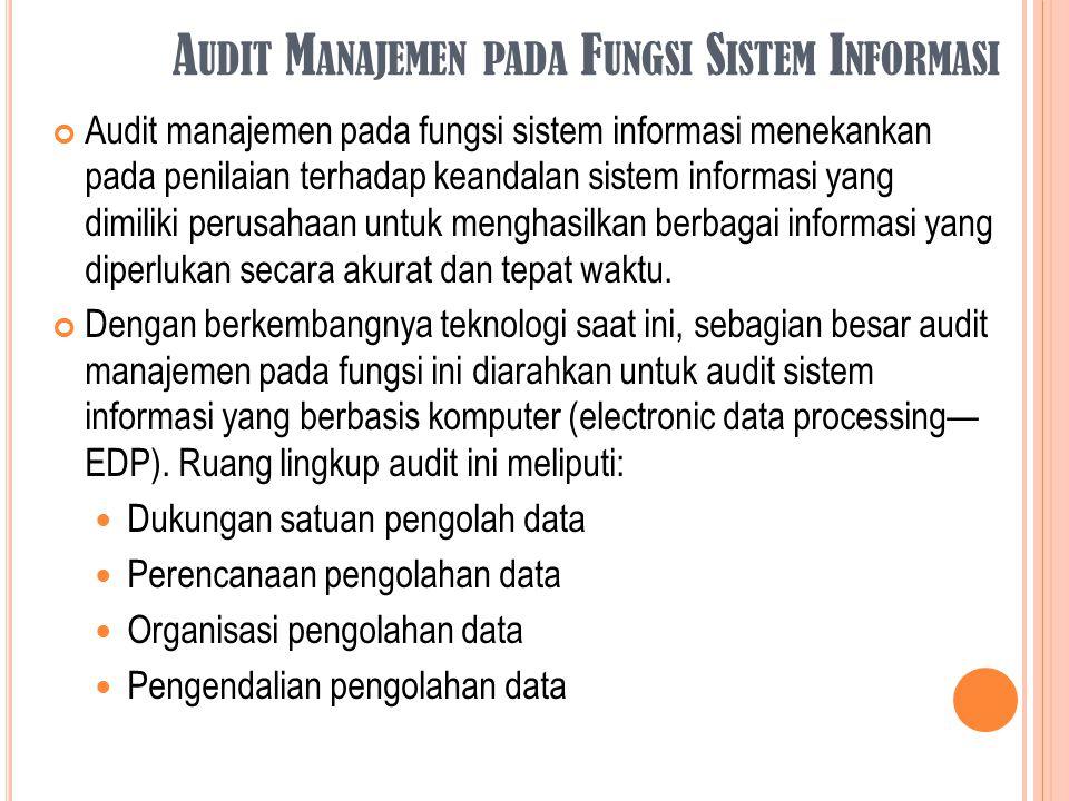 Audit Manajemen pada Fungsi Sistem Informasi