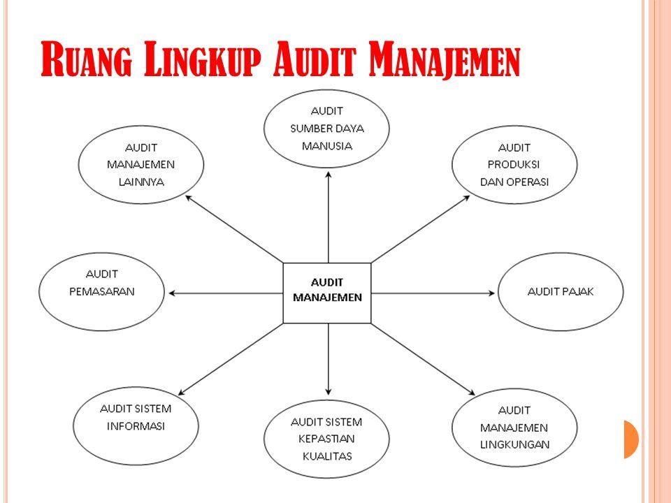 Ruang Lingkup Audit Manajemen