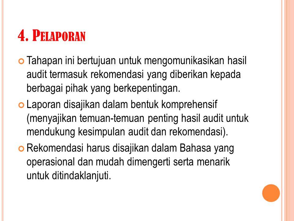 4. Pelaporan