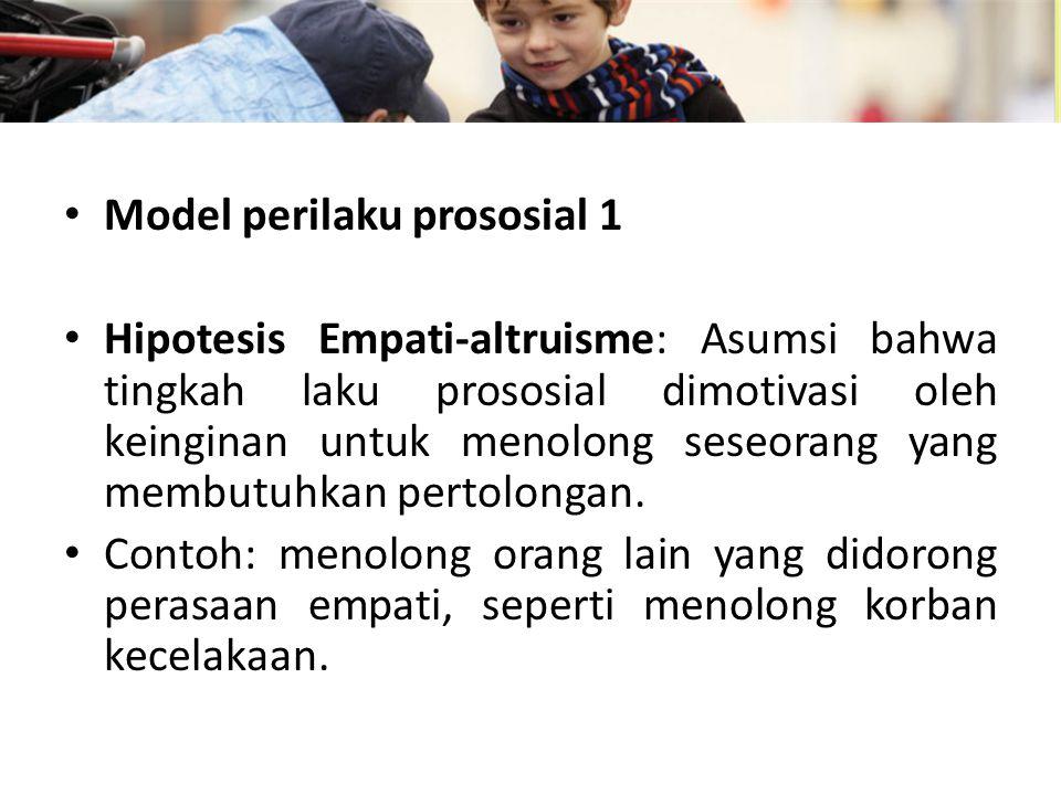 Model perilaku prososial 1