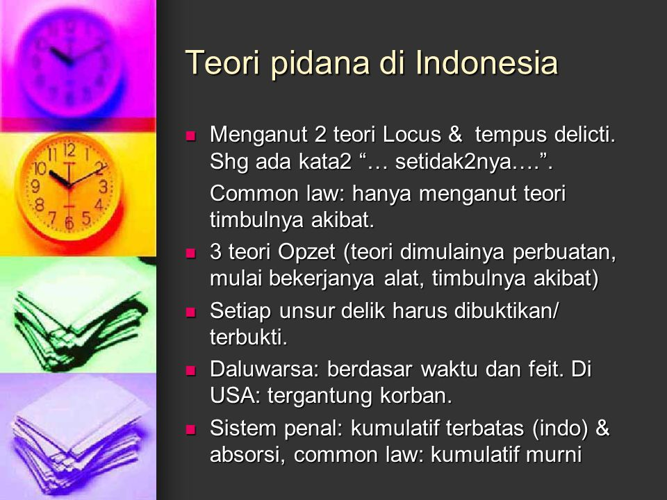 Teori pidana di Indonesia